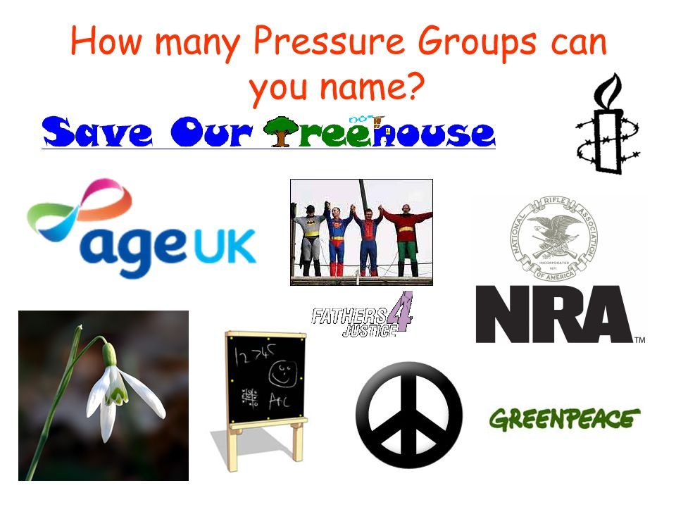 How many Pressure Groups can you name