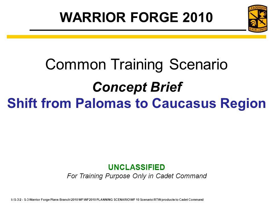 Shift from Palomas to Caucasus Region