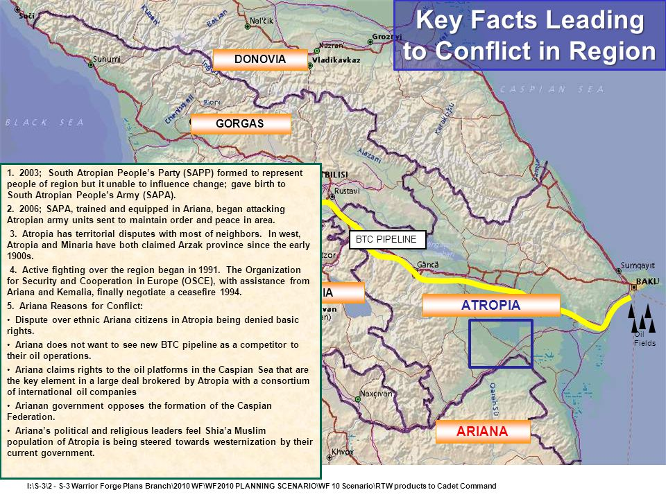 Key Facts Leading to Conflict in Region