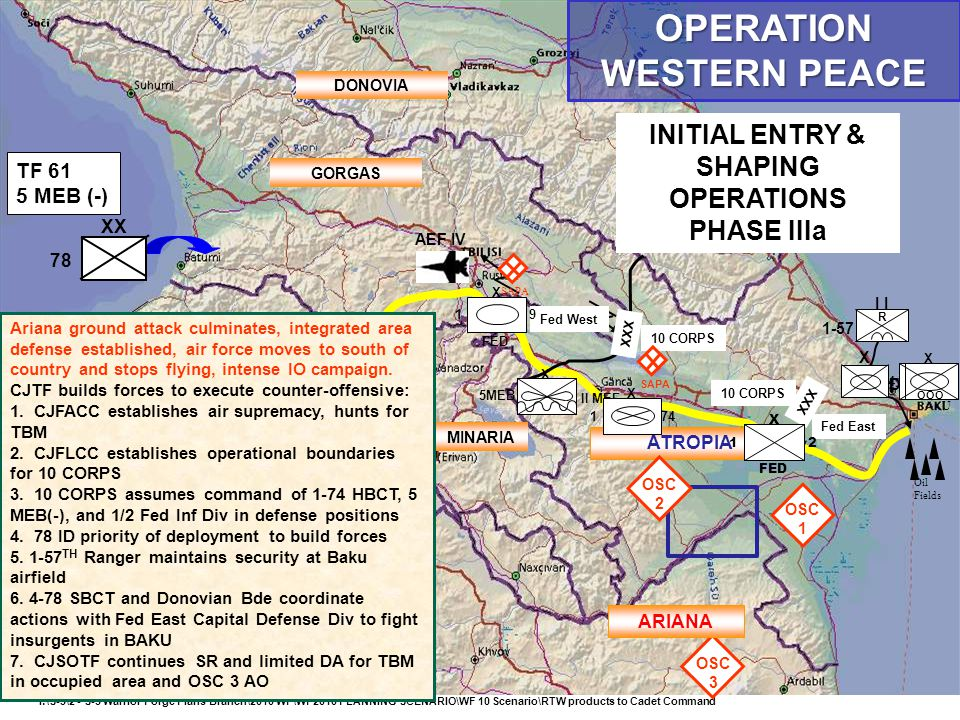 OPERATION WESTERN PEACE INITIAL ENTRY & SHAPING OPERATIONS