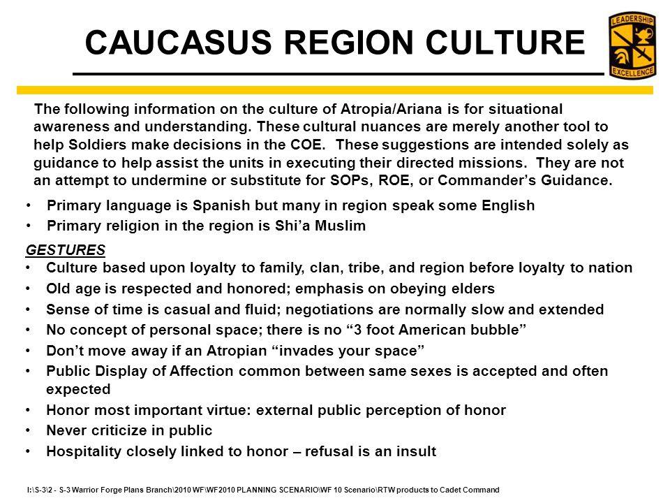 CAUCASUS REGION CULTURE