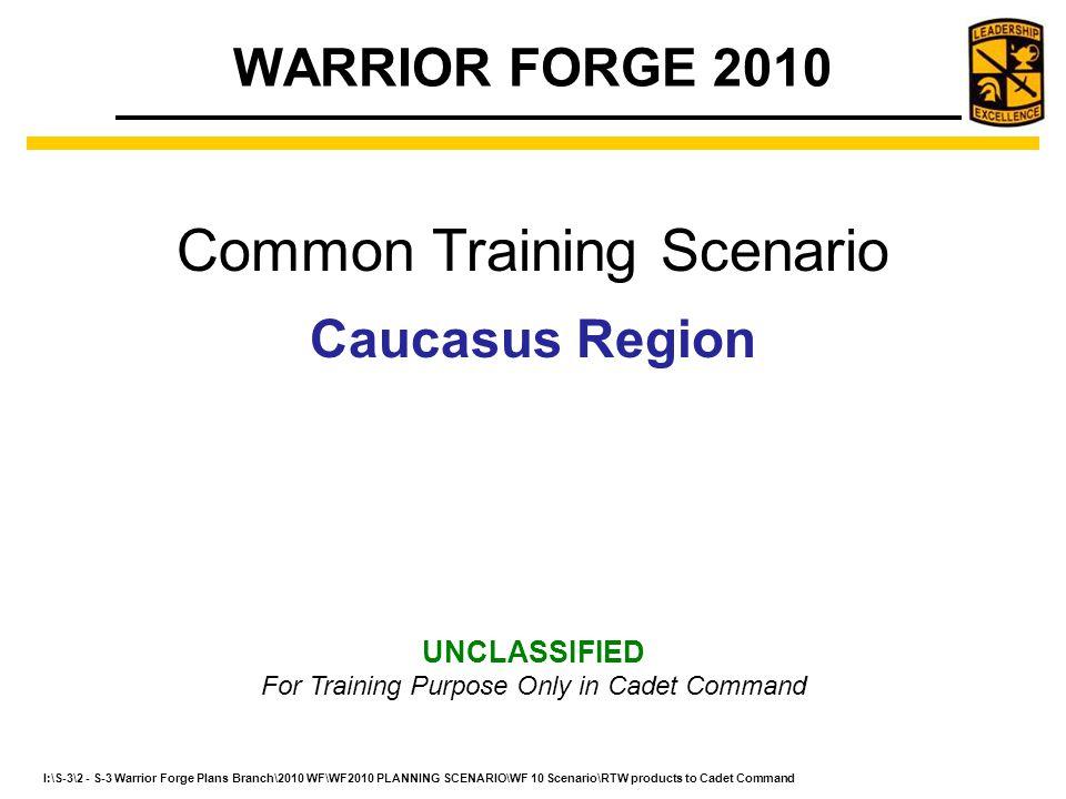 Common Training Scenario