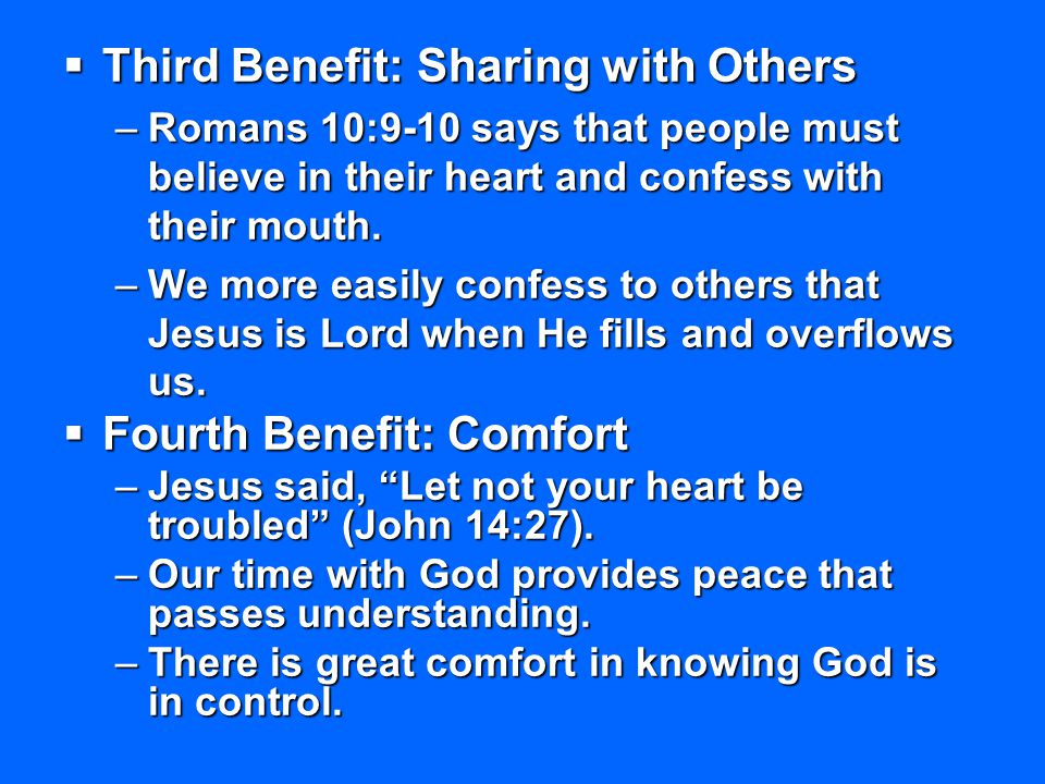 Third Benefit: Sharing with Others