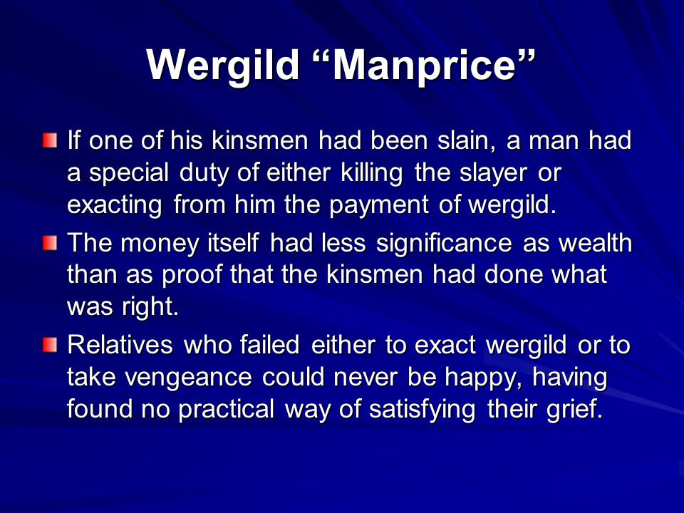 Wergild Manprice