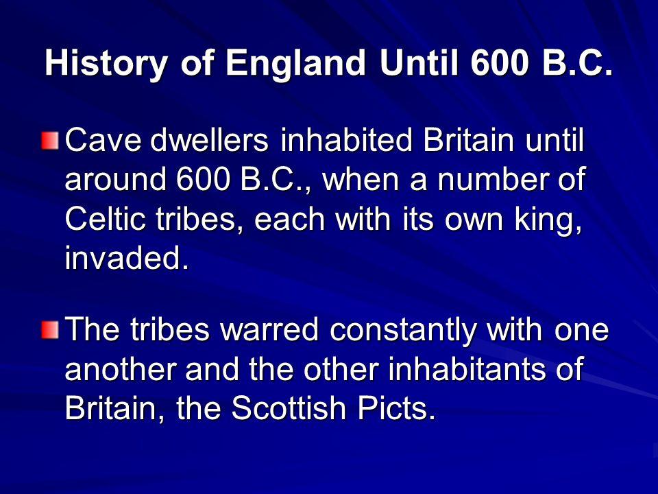 History of England Until 600 B.C.