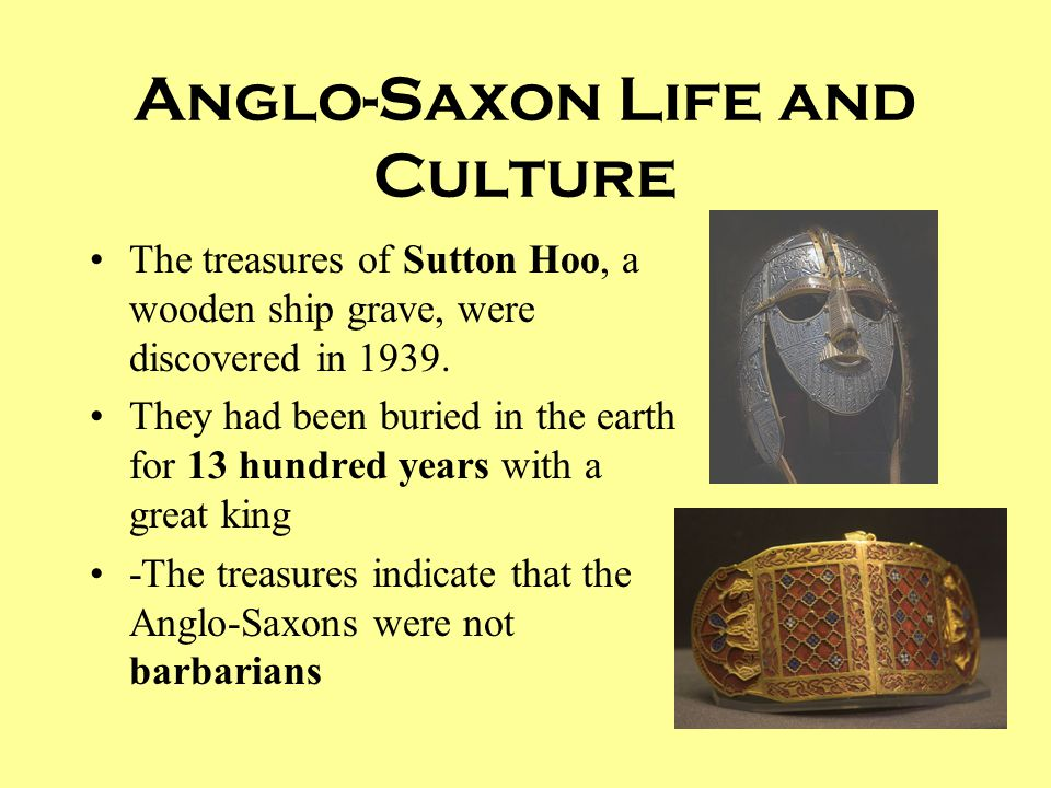Anglo-Saxon Life and Culture