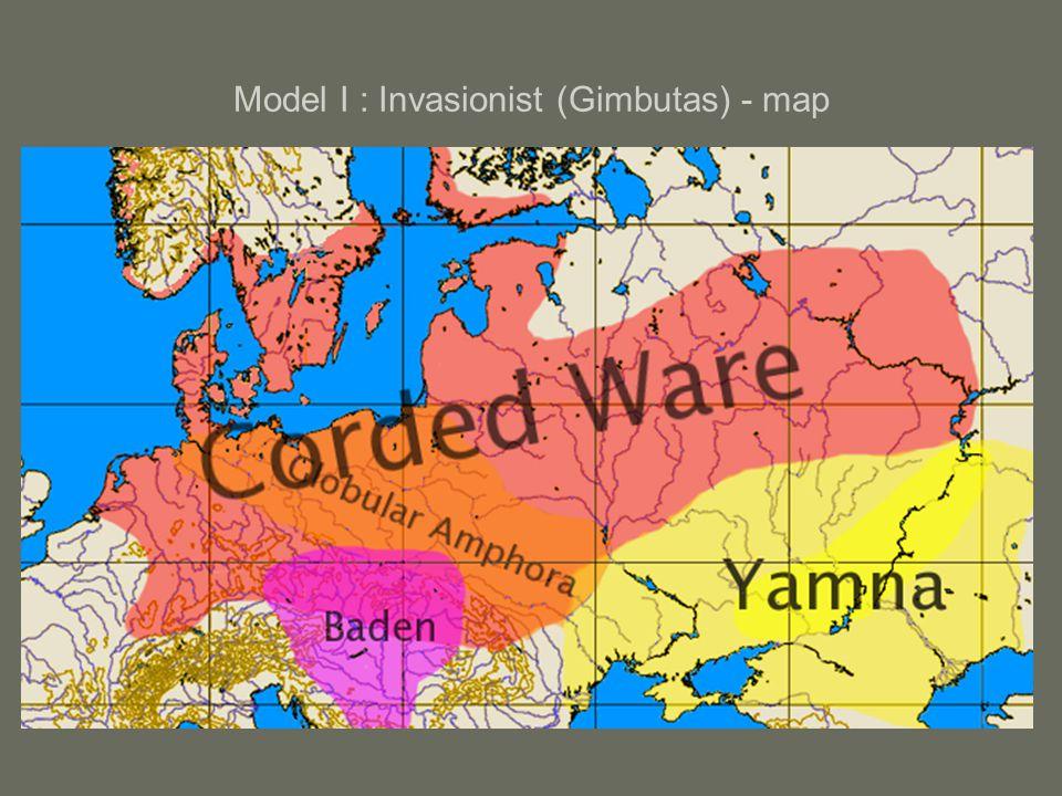 Model I : Invasionist (Gimbutas) - map