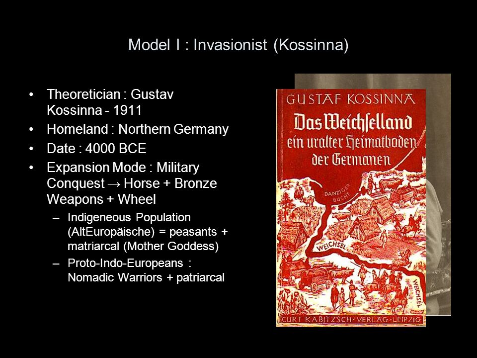 Model I : Invasionist (Kossinna)