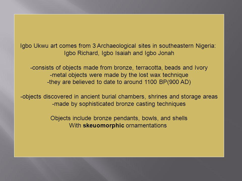 Igbo Richard, Igbo Isaiah and Igbo Jonah