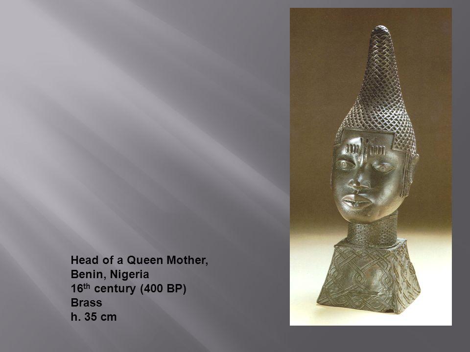 Head of a Queen Mother, Benin, Nigeria 16th century (400 BP) Brass h. 35 cm