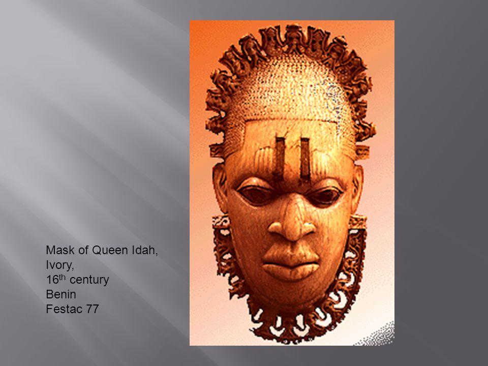 Mask of Queen Idah, Ivory, 16th century Benin Festac 77