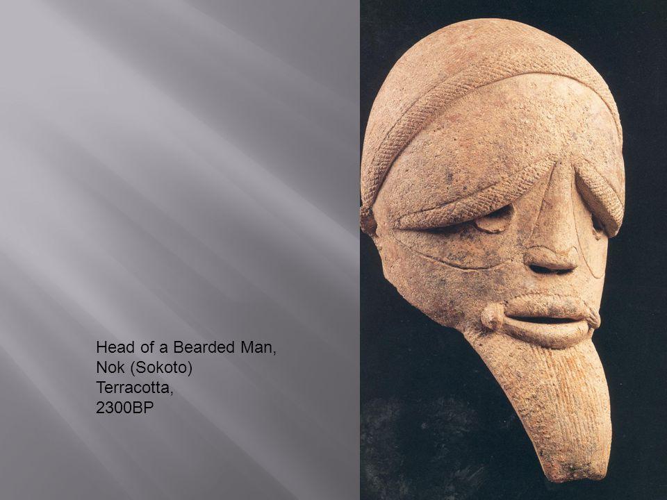 Head of a Bearded Man, Nok (Sokoto) Terracotta, 2300BP