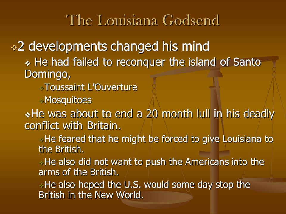 The Louisiana Godsend 2 developments changed his mind