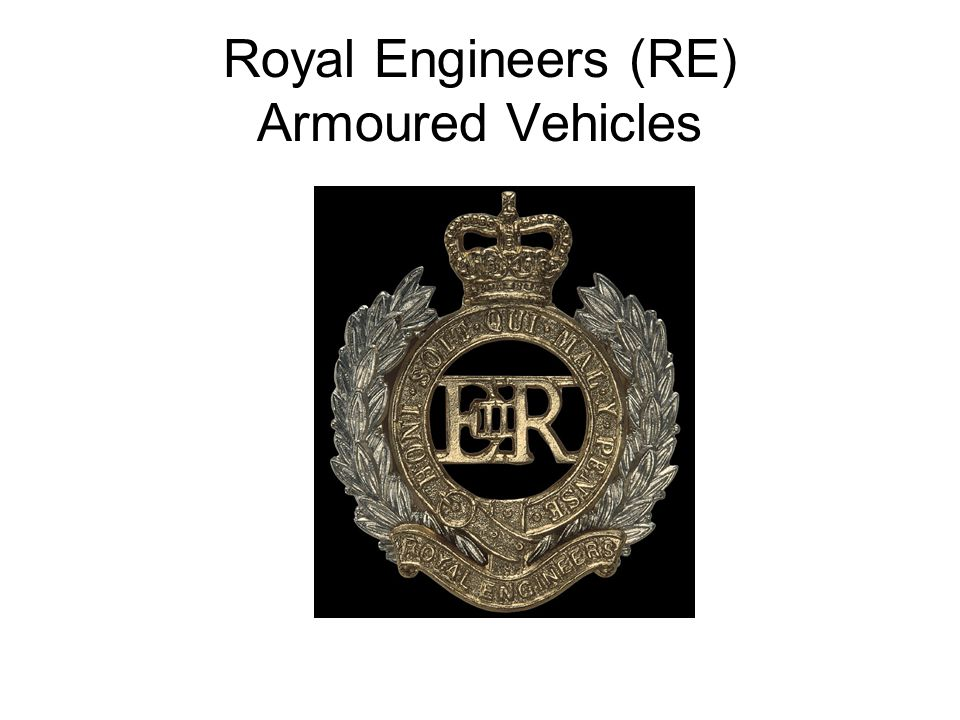 Royal Engineers (RE) Armoured Vehicles