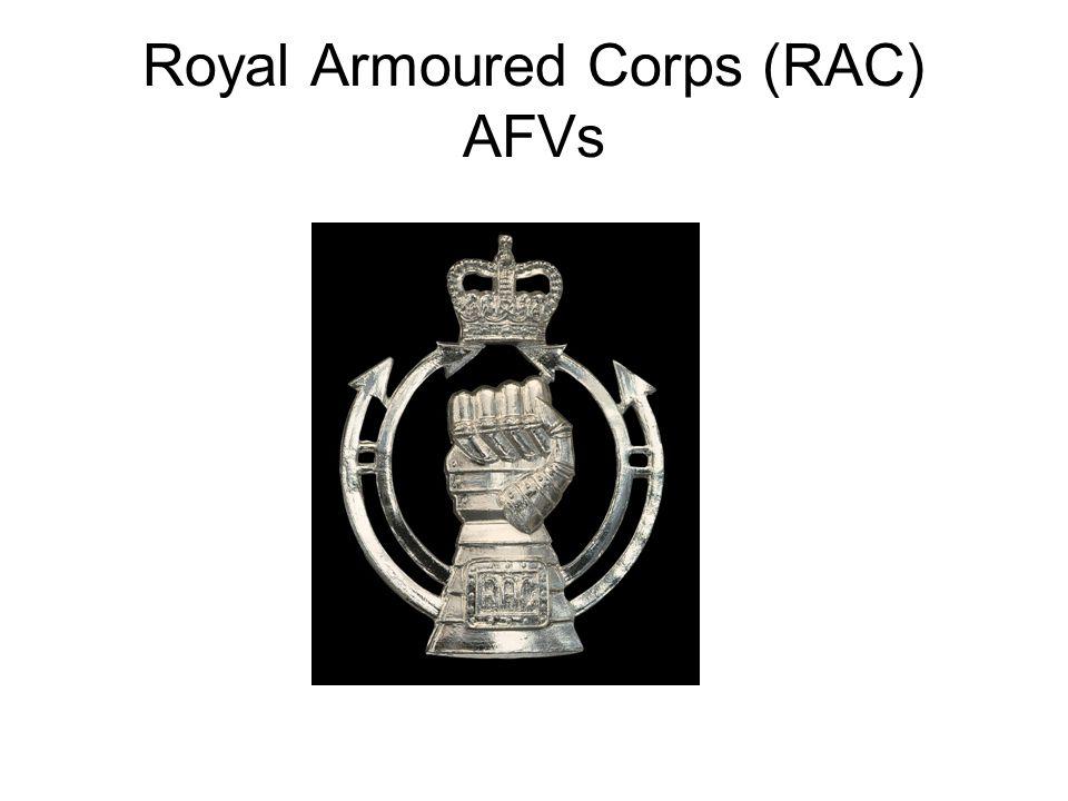 Royal Armoured Corps (RAC) AFVs