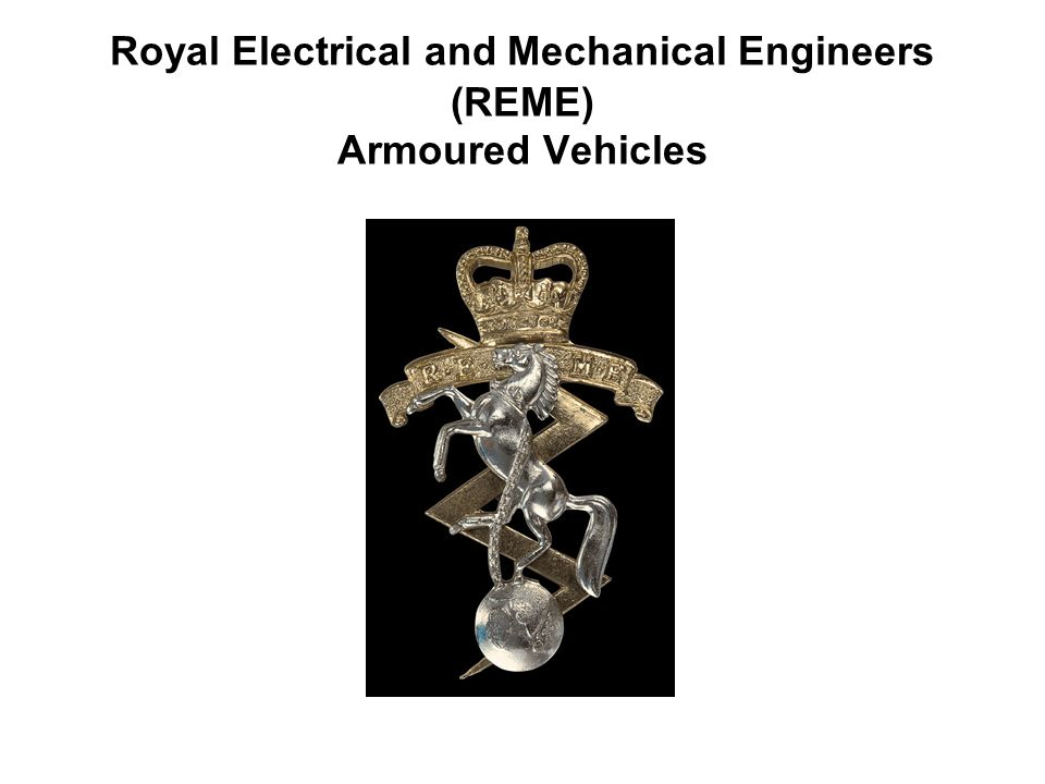 Royal Electrical and Mechanical Engineers (REME) Armoured Vehicles