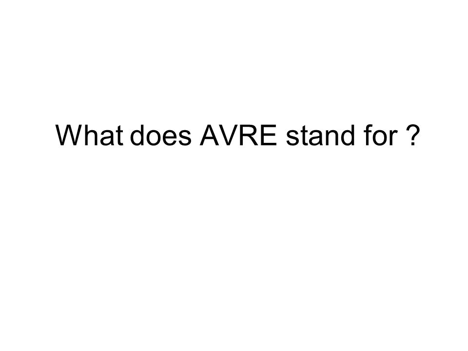 What does AVRE stand for