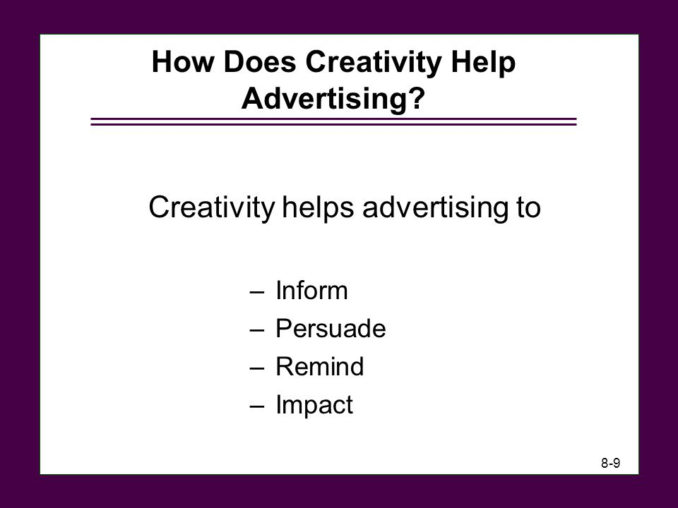 How Does Creativity Help Advertising