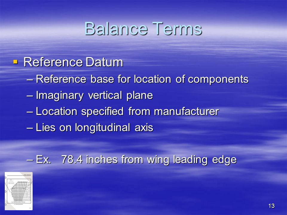 Balance Terms Reference Datum