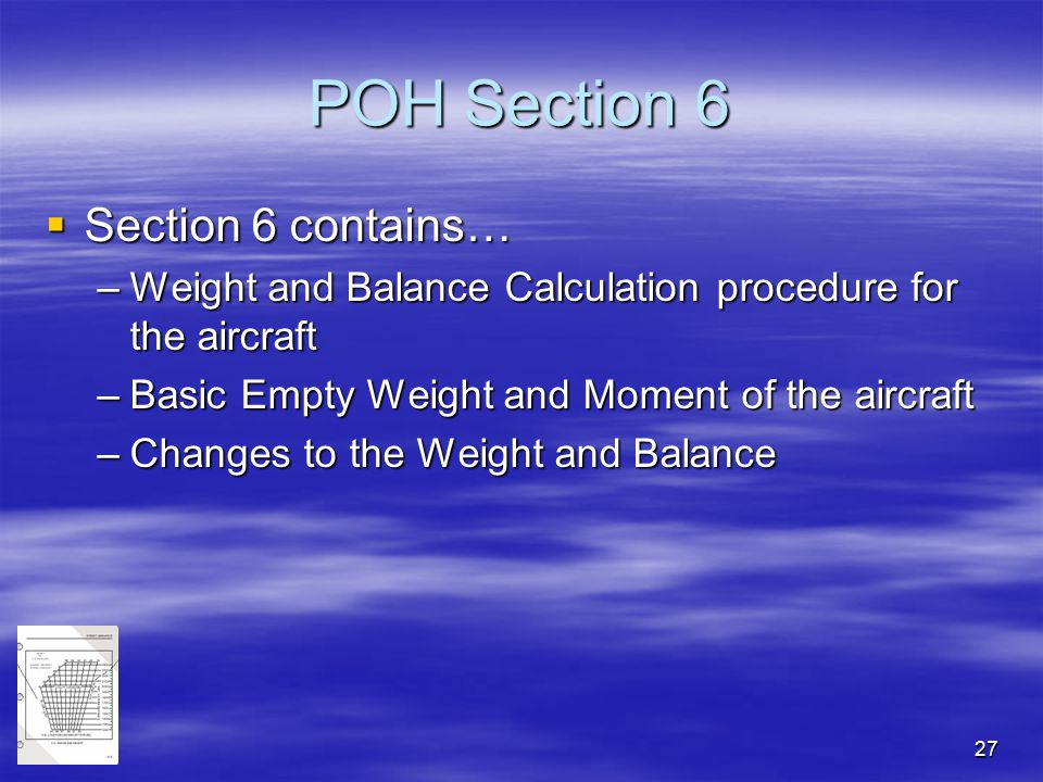 POH Section 6 Section 6 contains…