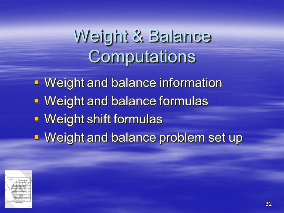 Weight & Balance Computations