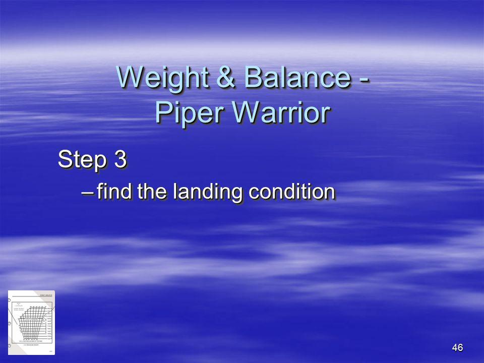 Weight & Balance - Piper Warrior