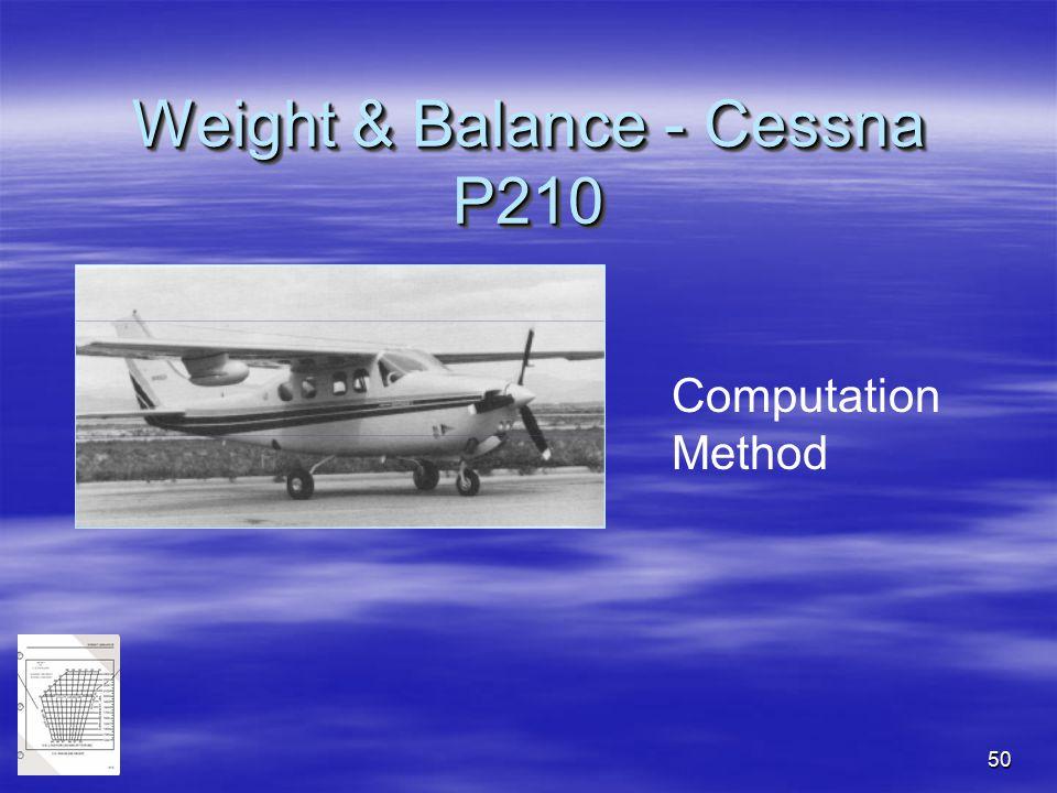 Weight & Balance - Cessna P210