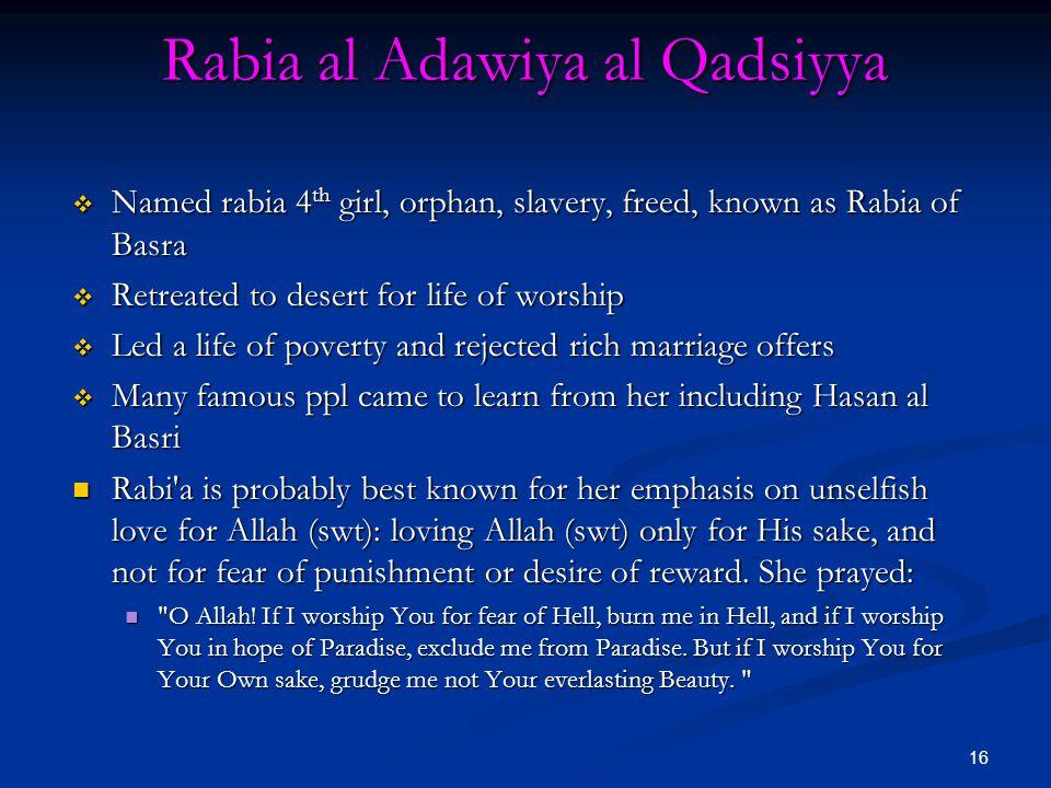 Rabia al Adawiya al Qadsiyya