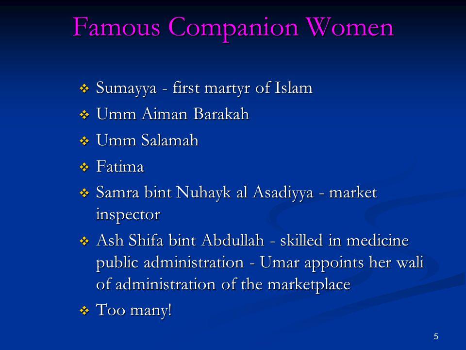 Famous Companion Women