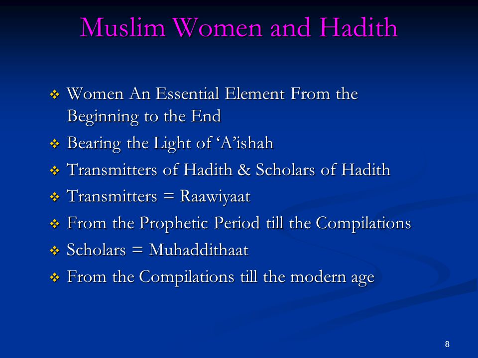 Muslim Women and Hadith