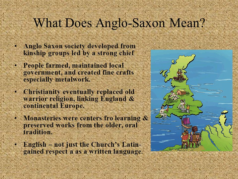 What Does Anglo-Saxon Mean