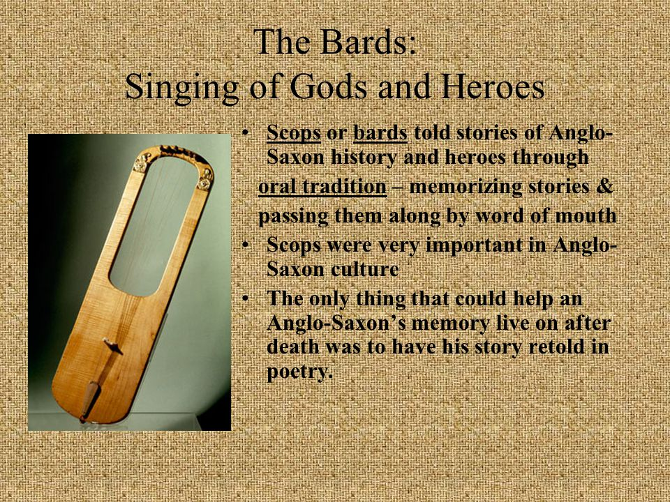 The Bards: Singing of Gods and Heroes