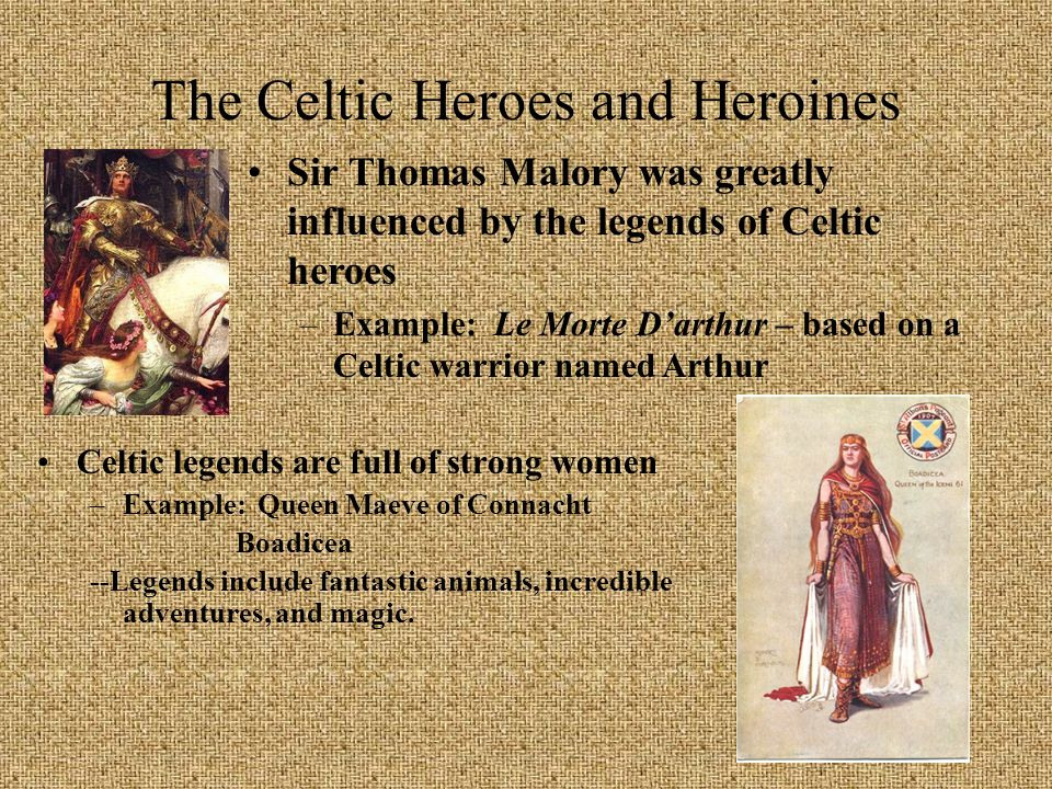 The Celtic Heroes and Heroines