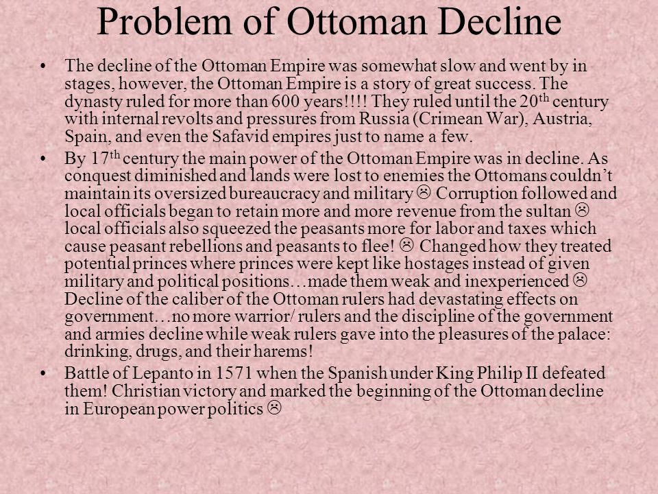 Problem of Ottoman Decline