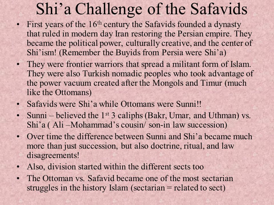 Shi'a Challenge of the Safavids