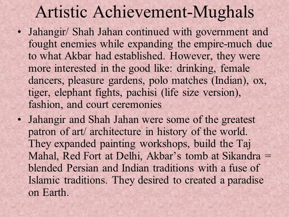 Artistic Achievement-Mughals