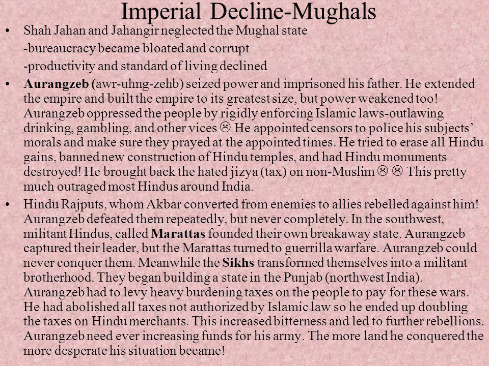 Imperial Decline-Mughals