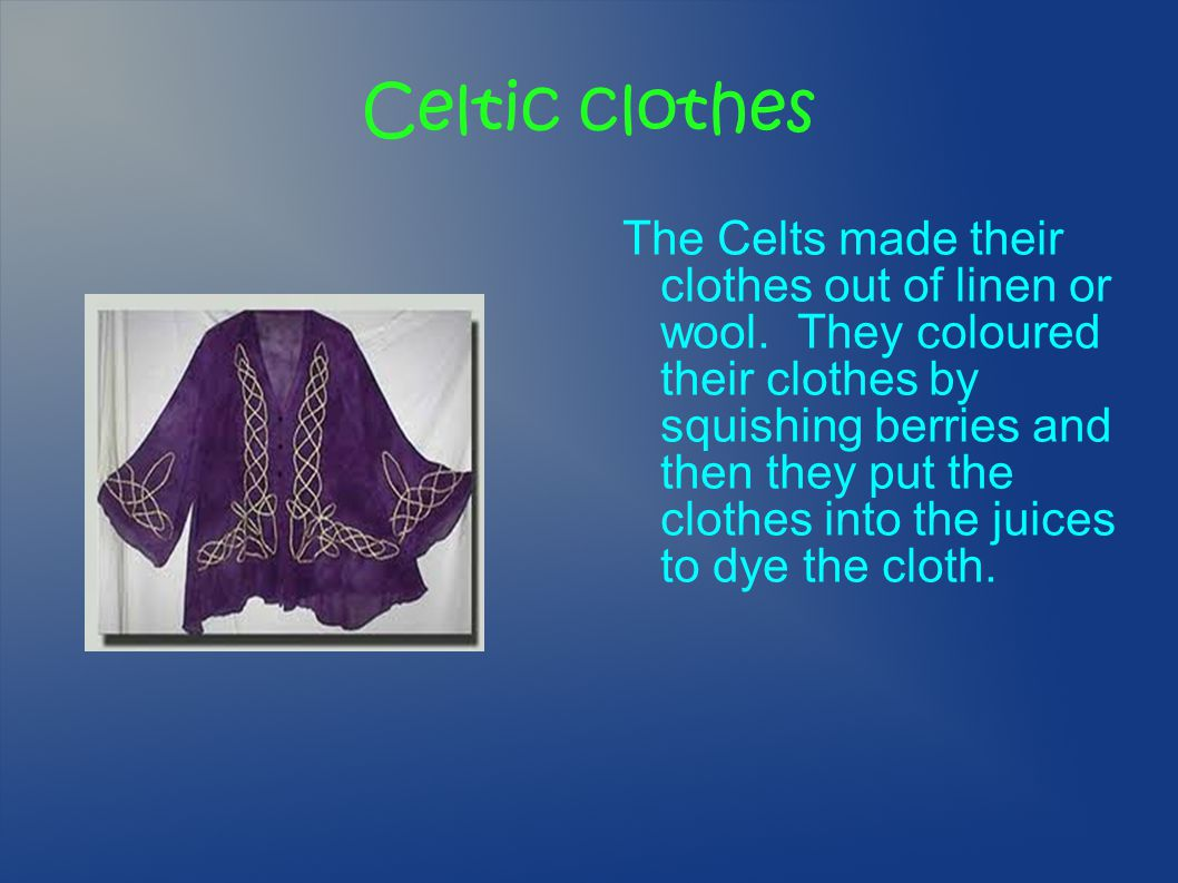 Celtic clothes