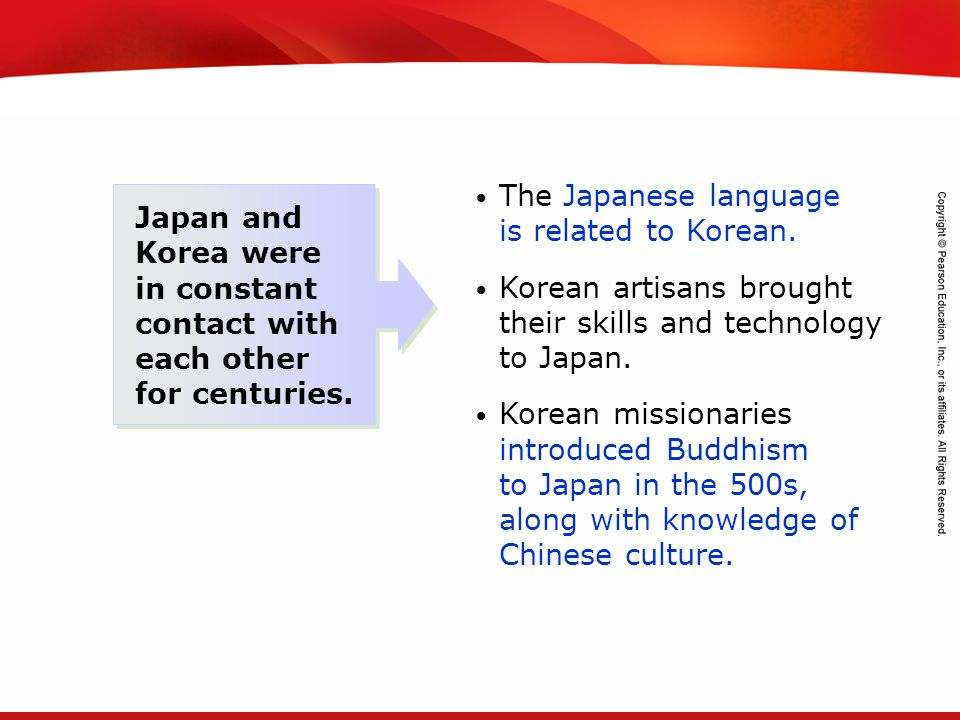 The Japanese language is related to Korean.