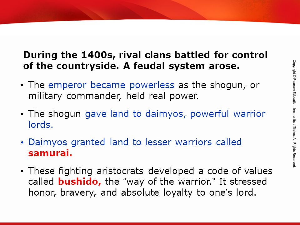 During the 1400s, rival clans battled for control of the countryside