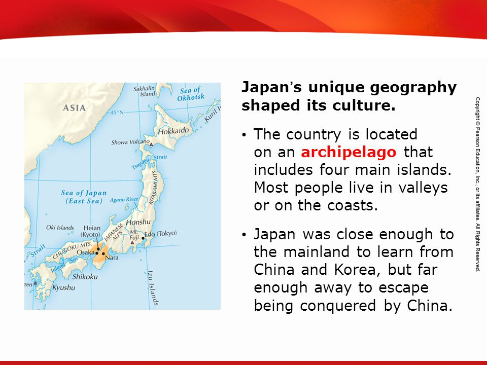 Japan's unique geography shaped its culture.