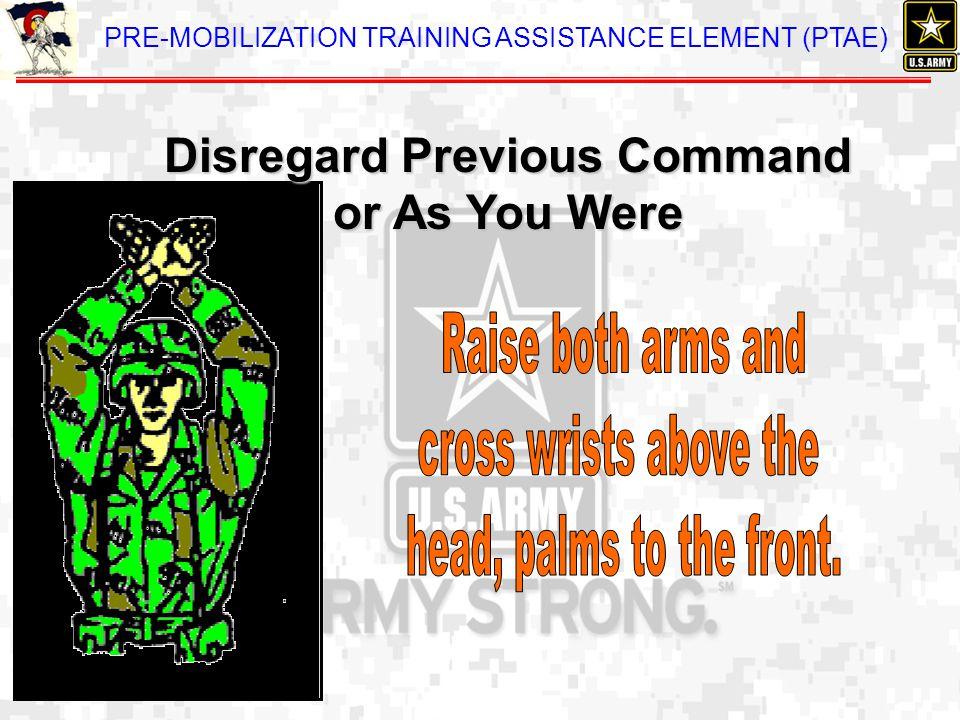Disregard Previous Command or As You Were