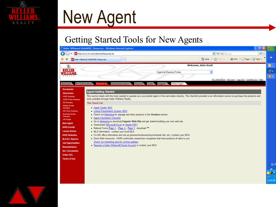 New Agent Getting Started Tools for New Agents