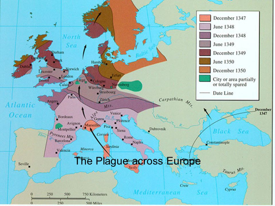 The Plague across Europe
