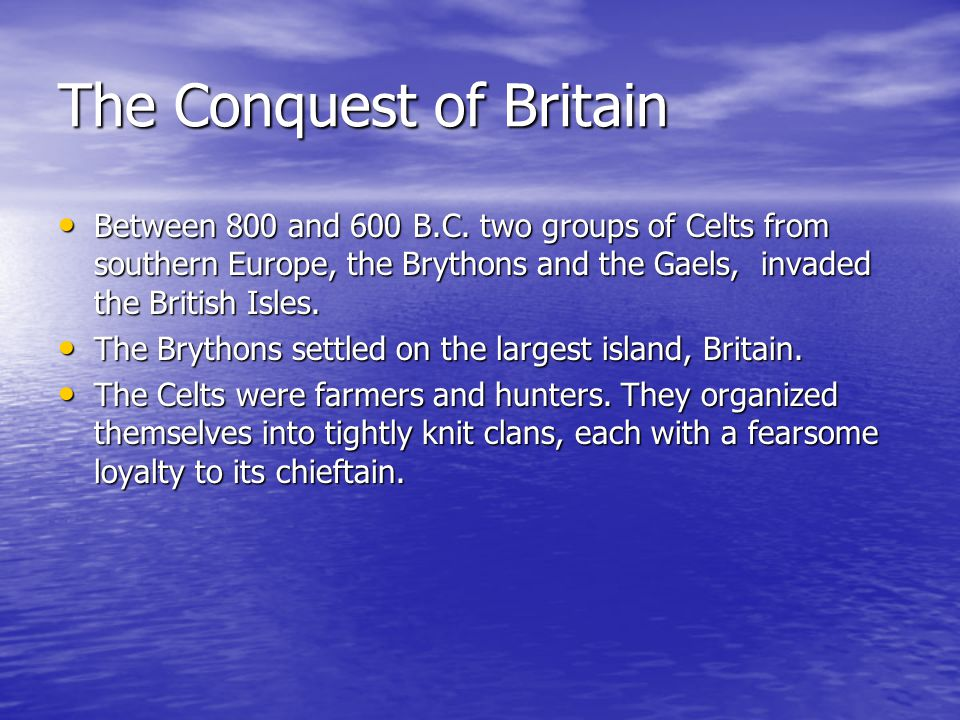 The Conquest of Britain