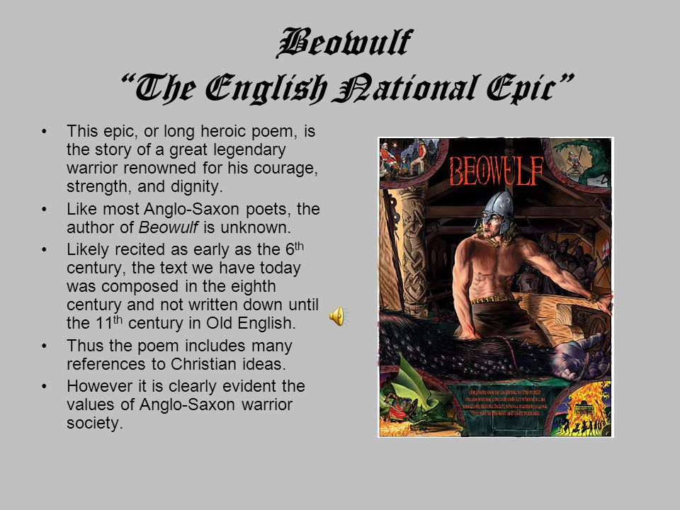 Beowulf The English National Epic