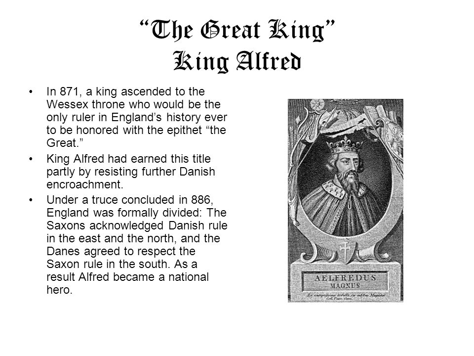 The Great King King Alfred