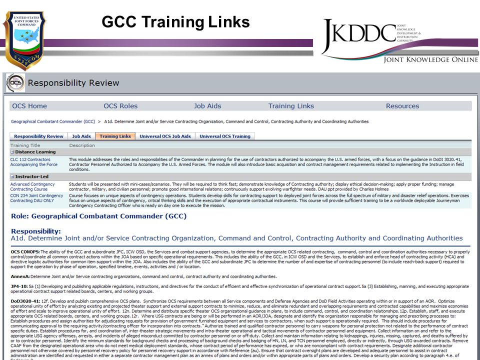 GCC Training Links