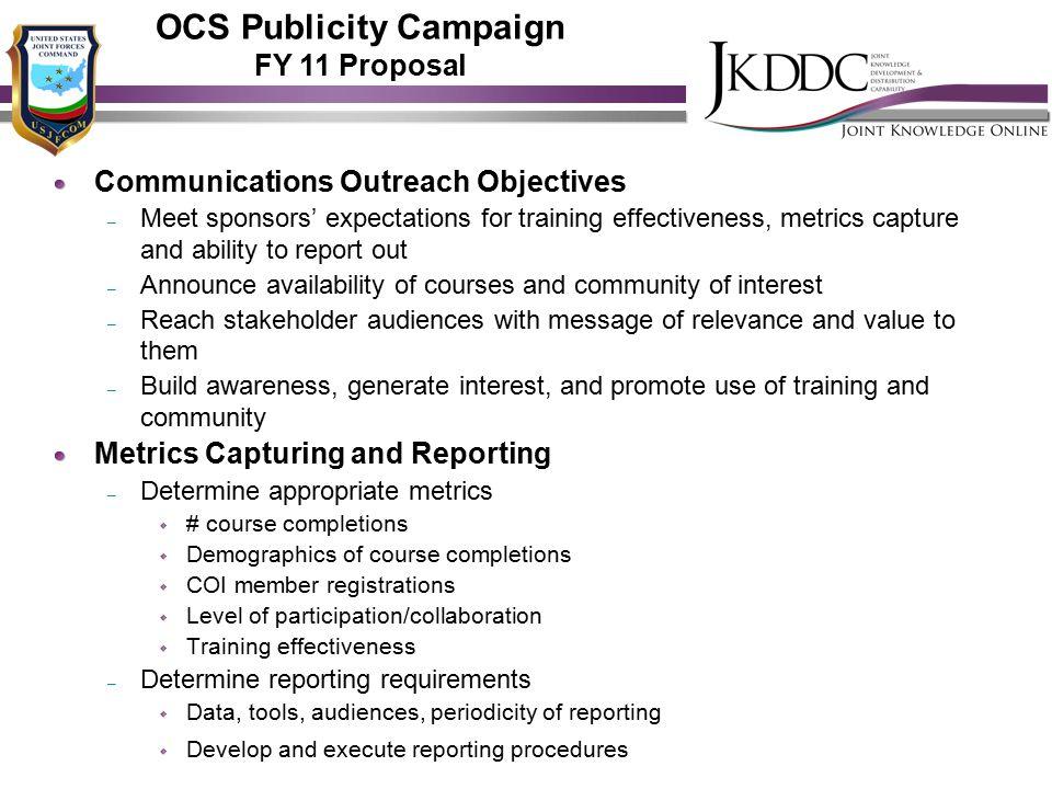 OCS Publicity Campaign