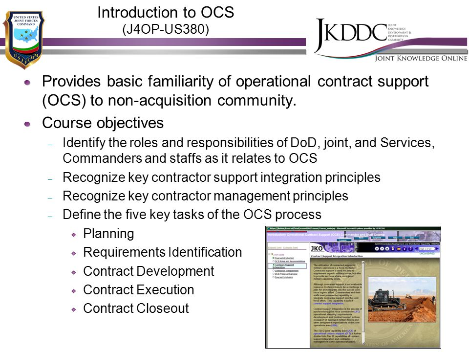 Introduction to OCS (J4OP-US380)